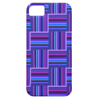 Blue and purple stripes weave pattern case for the iPhone 5