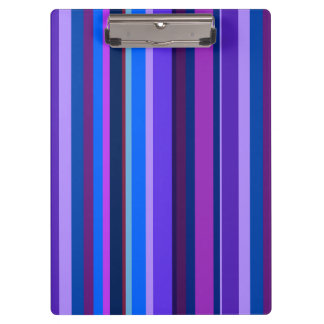 Blue and purple vertical stripes clipboards