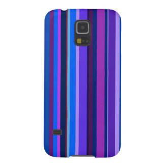 Blue and purple vertical stripes galaxy s5 cover