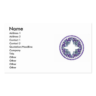 Blue and Purple Victorian Celtic ish Ornament Business Card Templates