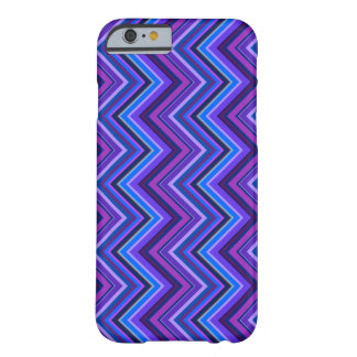 Blue and purple zigzag stripes barely there iPhone 6 case