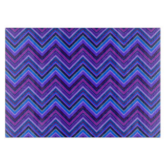 Blue and purple zigzag stripes boards
