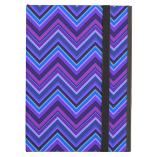 Blue and purple zigzag stripes case for iPad air