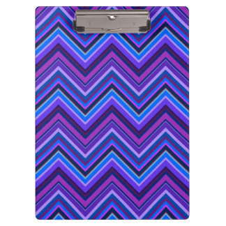 Blue and purple zigzag stripes clipboard