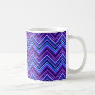 Blue and purple zigzag stripes coffee mug