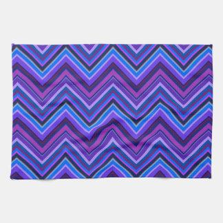 Blue and purple zigzag stripes kitchen towel