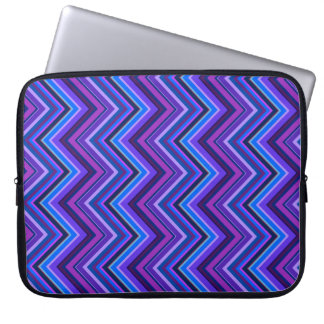 Blue and purple zigzag stripes laptop sleeve