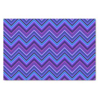 Blue and purple zigzag stripes tissue paper
