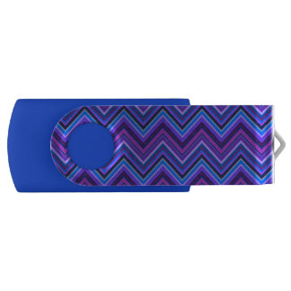 Blue and purple zigzag stripes USB flash drive