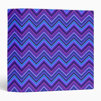 Blue and purple zigzag stripes vinyl binder