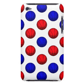 Blue and Red Basketball Pattern iPod Case-Mate Cases