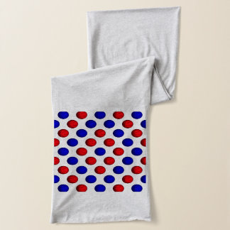 Blue and Red Basketball Pattern Scarf