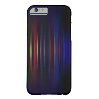 Blue and red blurred stripes pattern barely there iPhone 6 case