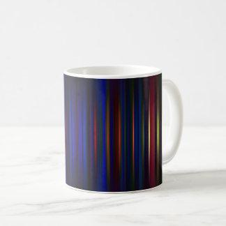 Blue and red blurred stripes pattern coffee mug