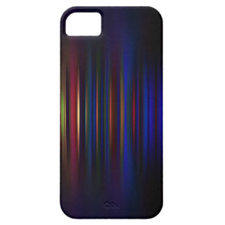 Blue and red blurred stripes pattern iPhone 5 case