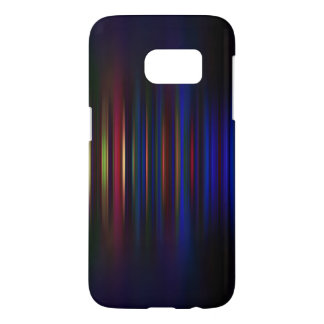 Blue and red blurred stripes pattern samsung galaxy s7 case