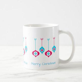 Blue And Red Christmas Ornaments Coffee Mug