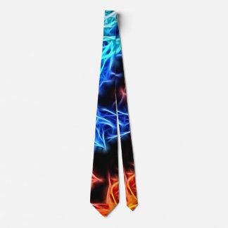 Blue and red flames, electric, electrified tie