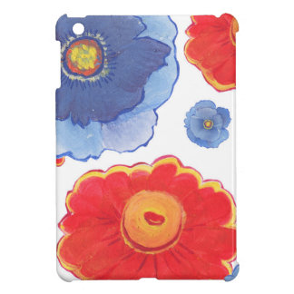 Blue and Red_Floral Wallpaper iPad Mini Case