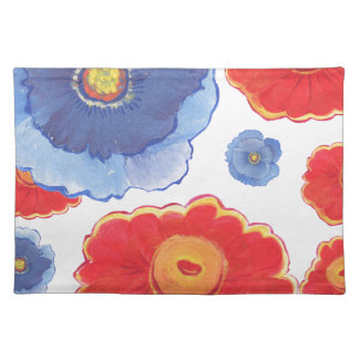 Blue and Red_Floral Wallpaper Placemat