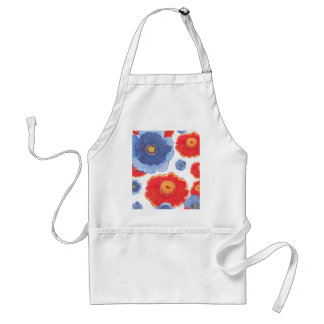Blue and Red_Floral Wallpaper Standard Apron