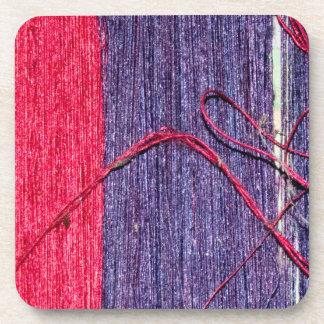 Blue and Red Handmade Thai Silk Coaster