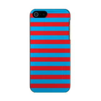 Blue and Red Horizontal Stripes Incipio Feather® Shine iPhone 5 Case