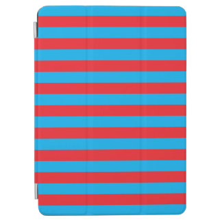 Blue and Red Horizontal Stripes iPad Air Cover