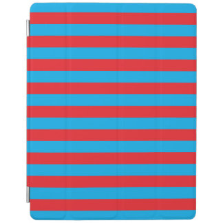 Blue and Red Horizontal Stripes iPad Cover