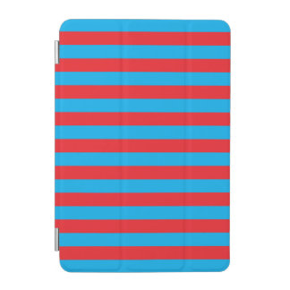 Blue and Red Horizontal Stripes iPad Mini Cover