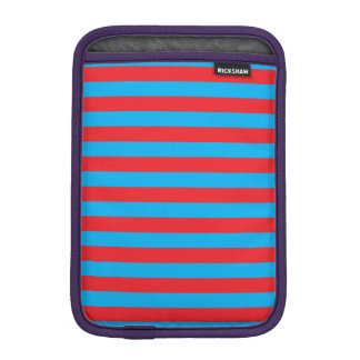 Blue and Red Horizontal Stripes iPad Mini Sleeve
