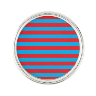 Blue and Red Horizontal Stripes Lapel Pin