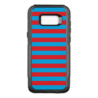 Blue and Red Horizontal Stripes OtterBox Commuter Samsung Galaxy S8+ Case