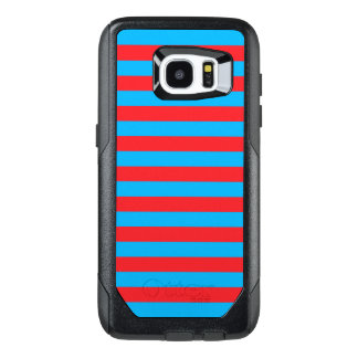 Blue and Red Horizontal Stripes OtterBox Samsung Galaxy S7 Edge Case
