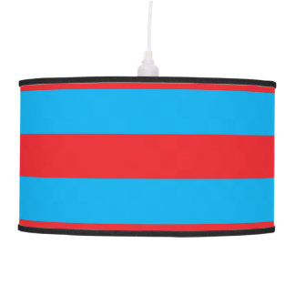 Blue and Red Horizontal Stripes Pendant Lamp