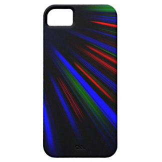 Blue and red light streaks case for the iPhone 5