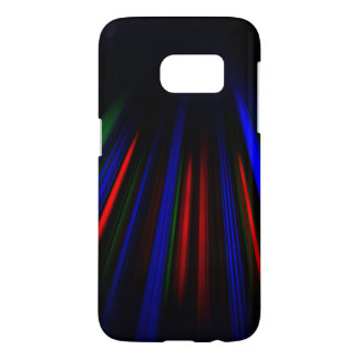 Blue and red light streaks samsung galaxy s7 case
