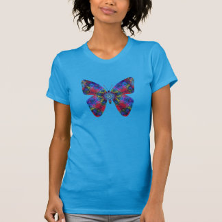 Blue and Red Mandala Fantasy Butterfly T Shirts