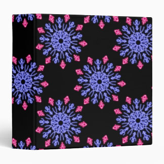 Blue and red neon flower binder