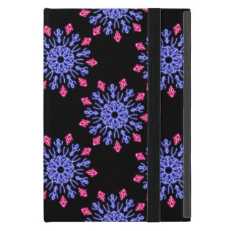 Blue and red neon flower case for iPad mini