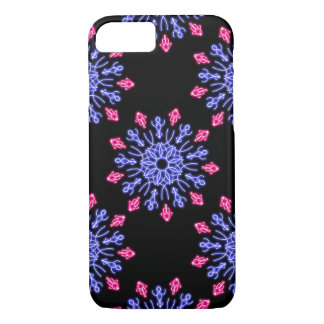 Blue and red neon flower iPhone 8/7 case