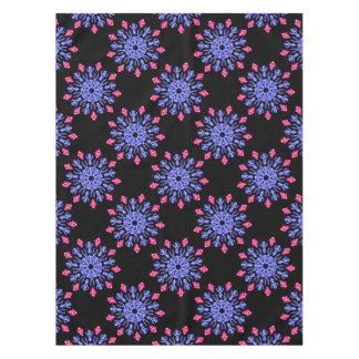 Blue and red neon flower tablecloth