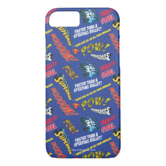 Blue and Red Pow! iPhone 7 Case
