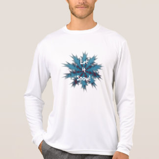 Blue and Red Snowflake Let it Snow T-Shirt