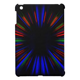 Blue and red starburst pattern iPad mini covers