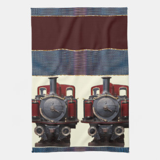 Blue And Red Train Kitchen Towel