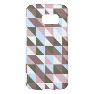 Blue and Red Triangles Samsung Galaxy S7 Case