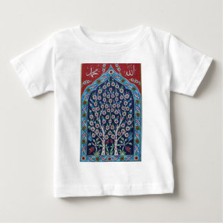 Blue and Red Turkish tiles TREE OF LIFE Baby T-Shirt