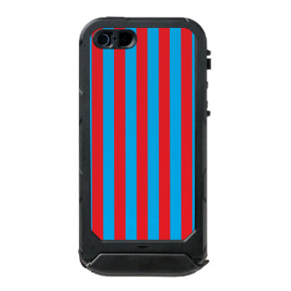 Blue and Red Vertical Stripes Incipio ATLAS ID™ iPhone 5 Case