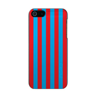 Blue and Red Vertical Stripes Incipio Feather® Shine iPhone 5 Case